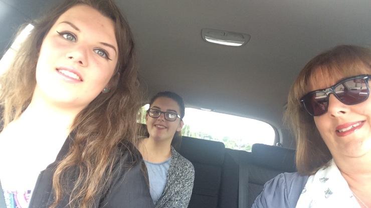 june 2016 me and girls car